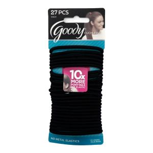 Goody Hair Bobbles Ouchless Black 27pcs Pack