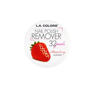 L.A.COLORS Nail Polish Remover 32 Pads Strawberry Scented