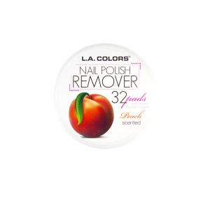 L.A.COLORS Nail Polish Remover 32 Pads Peach Scented