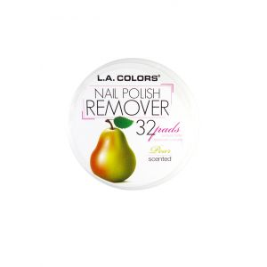 L.A.COLORS Nail Polish Remover 32 Pads Pear Scented