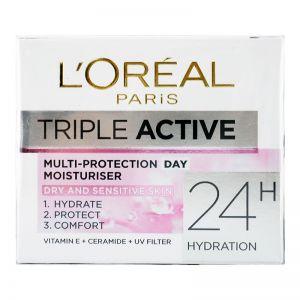 L'Oreal Triple Active Day Moisturizer 50ml Dry & Sensitive Skin