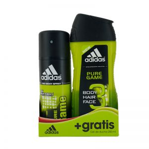 Adidas Pure Game Shower Gel 3in1 250ml + Deodorant Spray 150ml