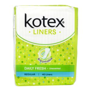 Kotex Fresh Liners Regular Unscented 40S