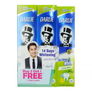 Darlie All Shiny White Toothpaste - Lime Mint (140gx2+90g)