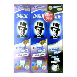 Darlie All Shiny White Toothpaste Multi-Care (140gx2+80g)