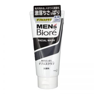 Biore Men Double Scrub Face Wash 130g