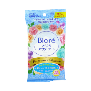 Biore Body Powder Wipes 10s Rose Fragrance