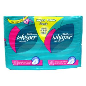 Whisper Regular Flow Wings Sanitary Pad (2x20s)