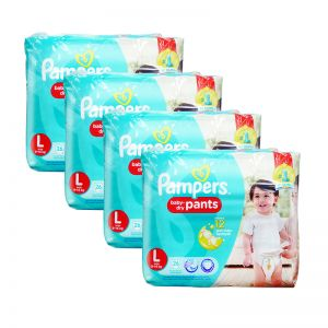 Pampers Baby-Dry Pants Large 26S(4Packs)