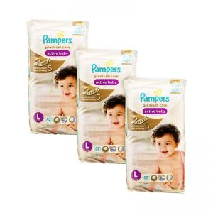 Pampers Premium Care Active Baby Diapers Large 52S