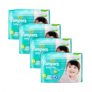Pampers Baby-Dry Diapers X-Large 40S x4Packs
