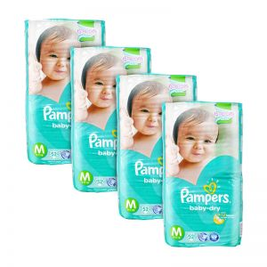 Pampers Baby-Dry Diapers Medium 52S x4Packs