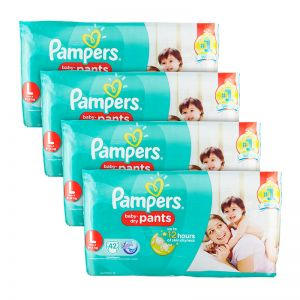 Pampers Baby-Dry Pants Large 42S(4Packs)