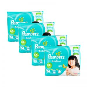 Pampers (JP) Baby-Dry Diapers XX- Large 34s (1Carton=4pack)