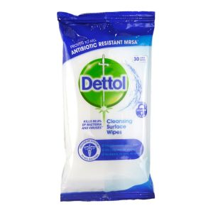 Dettol Anti Bacterial Cleansing Surface Wipes 30s