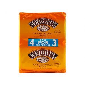 Wright's Traditional Coal Tar Bar Soap 125gX4