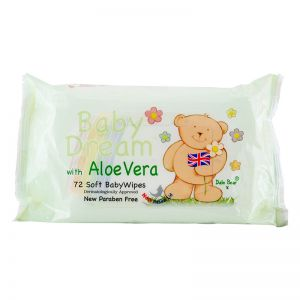Baby Dream Soft Baby Wipes (72Sheets) w/ Aloe Vera