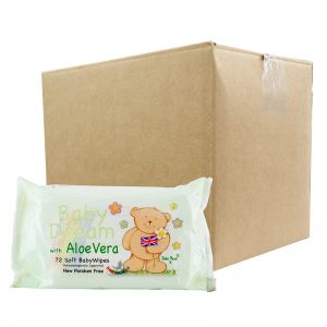 Baby Dream Soft Baby Wipes w/ Aloe Vera 72S (x12Packs)