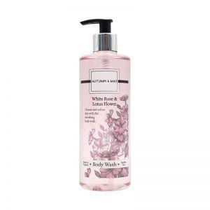 Autumn & May Body Wash 500ml White Rose & Lotus Flower