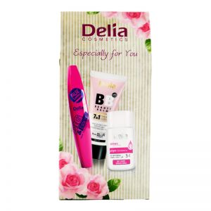 Delia Pink Gift Set Mascara 11ml + Face Eye Lip Makeup Remover Lotion