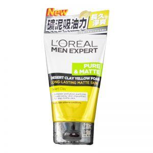 L'Oreal Men Expert Pure & Matte Desert Clay Yellow Foam 100ml