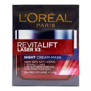 L'Oreal Revitalift Laser x3 Night Cream-Mask 50ml