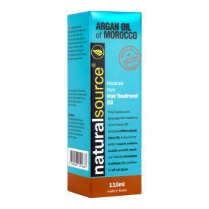 Natural Source Argan Oil of Morocco Moisture Rich Hair Treatment Oil 110ml