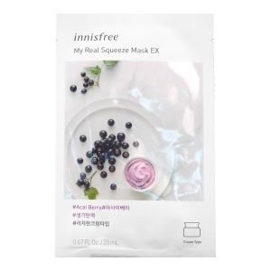 Innisfree My Real Squeeze Mask Ex Acai Berry 1s