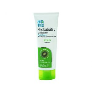 Shokubutsu Facial Foam Scrub Kiwi and Chamomile Oil 100g