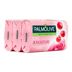 Palmolive Natural Soap Milk and Rose Petals 3X80g