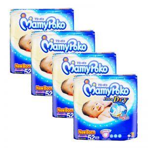 MamyPoko Extra Dry Tape Diaper Newborn 52S (1Carton=4pack)