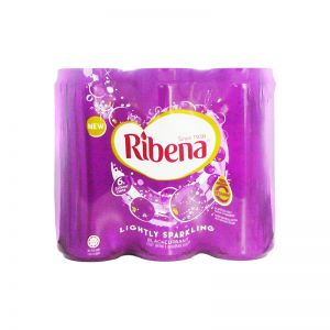 Ribena Lightly Sparkling Blackcurrant Fruit Drink 325ml (6 Cans)