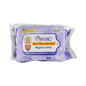 Pureen Baby Wipes (30sx2) Anti-Bacterial