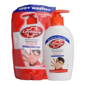 Lifebuoy Handwash Total10 190ml + Refill 185ml Set