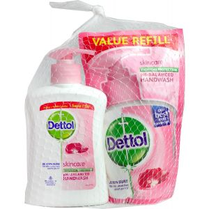 Dettol Hand Soap 200ml Skin Care + Refill 175ml Skin Care