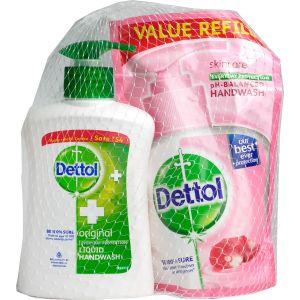 Dettol Hand Soap 200ml Original + Refill 175ml Skin Care