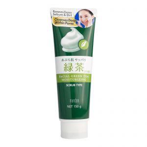Mandom Facial Green Tea Moisturizing Scrub 150g
