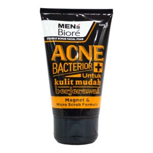 Biore Men Double Scrub Facial Foam Acne Bacterior 100g