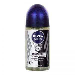 Nivea Men Roll-On Deodorant 50ml Invisible for Black & White