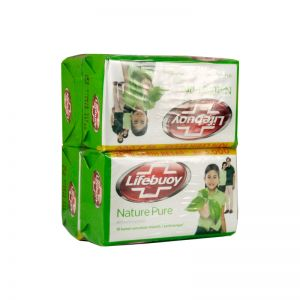 Lifebuoy Anti-Bacterial Soap 85gx4 (Nature Pure)