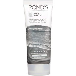 Pond's Pure White Mineral Clay Face Cleanser Scrub 90g