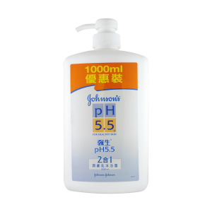 Johnson's pH 5.5 Body Wash 1L 2in1