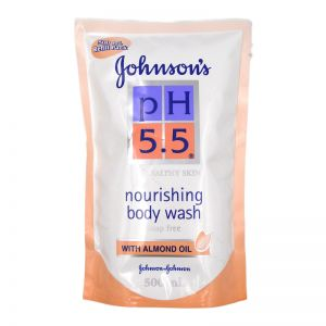 Johnson's PH5.5 Bodywash 500ml Refill Almond Oil