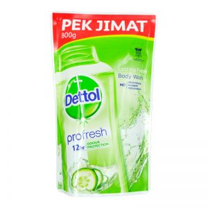 Dettol Profresh Shower Gel Refill 800g Lasting Fresh