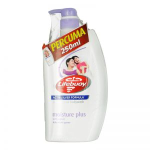 Lifebuoy Bodywash 1L Moisture Plus + FOC 250ml Total 10