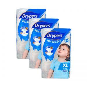 Drypers Wee Wee Dry XL50S (1Carton=3pack)
