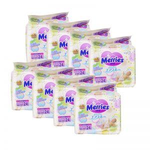 Merries Tape Diaper Newborn 24S (1Carton=8pack)