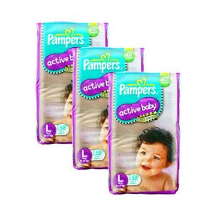 Pampers Active Baby Diapers Large 58S (1Carton=3Pack)