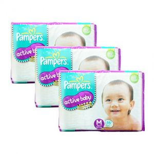 Pampers Active Baby Diapers Medium 66S (1Carton=3pack)