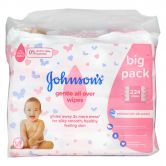 Johnson's Gentle All Over Wipes 56sx4 Pack